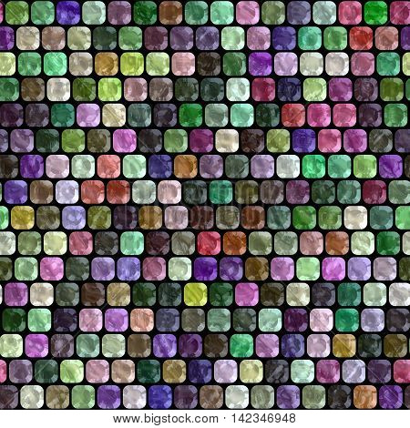 Glass tiles seamless generated hires texture, 3D illustration
