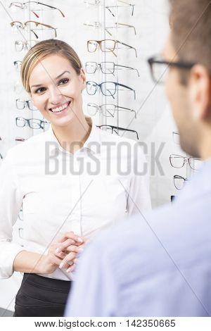 Smiling Optician Saleswoman