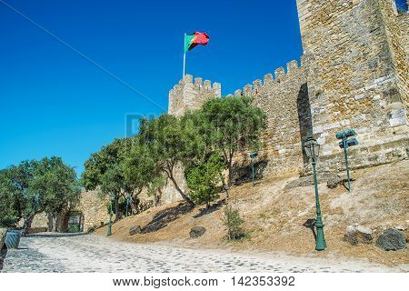 Saint George castle is a Moorish castle and dates from medieval period of Portuguese history and is one of the main tourist sites of Lisbon.
