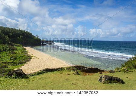 Landscape of Gris Gris Cape, Mauritius island