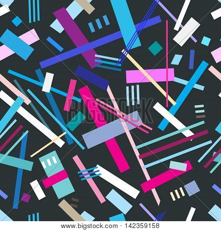 Abstract colorful intersection cool geometric pattern rectangles
