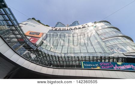 Bangkok, Thailand - October 31, 2015: Bangkok on October 31. Terminal 21 Shopping Mall is the famous shopping mall that connect Subway and Skytrain together.