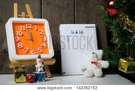 Counting down to Christmas New year To do list