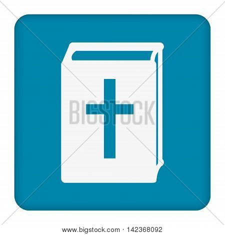 Bible icon vector. Flat icon isolated on the blue background. Vector illustration