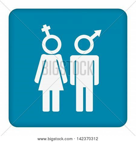 A man and a lady toilet sign and male and female symbols
