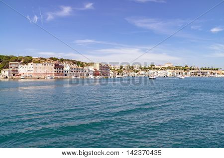 Mahon/Spain. 20th June 2012. The port of Mahon in the Menorcan capital on a warm sunny June day.