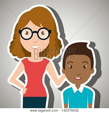 teacher student school teenage vector illustration graphic