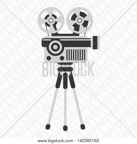 Retro cinema icon. Movie projector illustration concept.