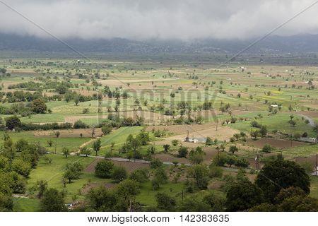 Cloudy landscape of Lassithi plateau, Crete, Greece