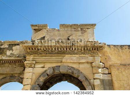 Ephesus ancient greek ruins in Anatolia Turkey