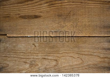 Close up of weathered planks of wood.