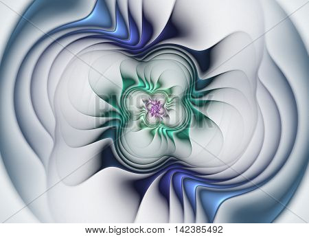 flower shaped abstract fractal texture can be as background
