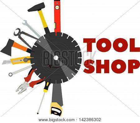 saw pliers axes and other tools for construction and repair