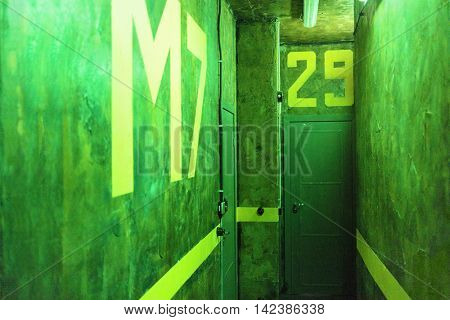 MOSCOW, RUSSIA - MAR 11, 2015: Interior of one of the rooms a reality Mistikum quests studio