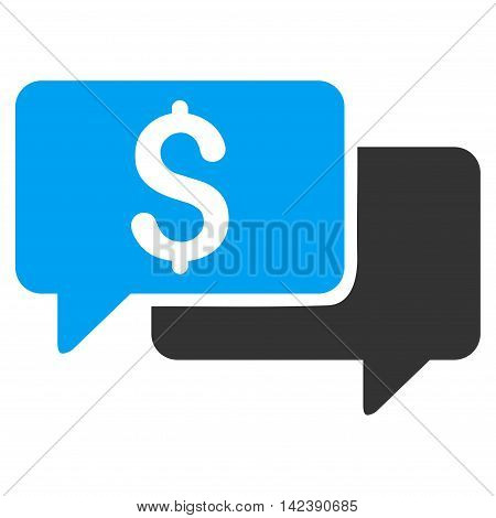 Price Bids icon. Vector style is bicolor flat iconic symbol with rounded angles, blue and gray colors, white background.