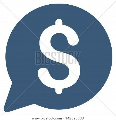 Bid icon. Glyph style is flat iconic symbol with rounded angles, blue color, white background.