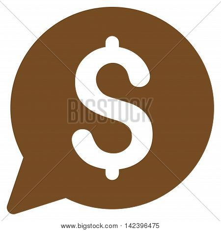 Bid icon. Vector style is flat iconic symbol with rounded angles, brown color, white background.