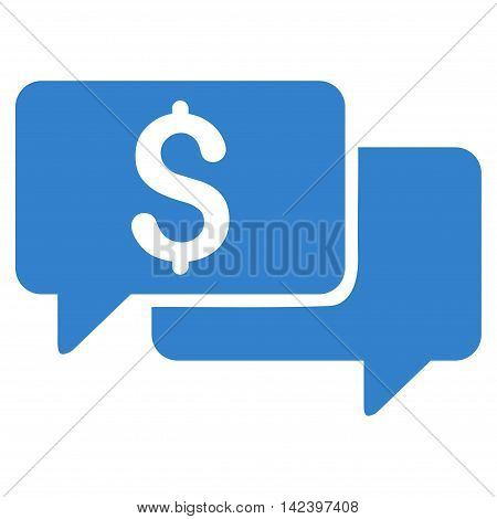 Price Bids icon. Vector style is flat iconic symbol with rounded angles, cobalt color, white background.