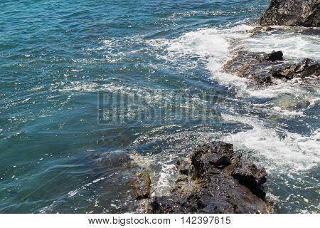Beautiful Maui, Hawaii Ocean, Rocks, and Waves