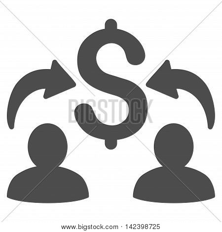 Money Changers icon. Vector style is flat iconic symbol with rounded angles, gray color, white background.