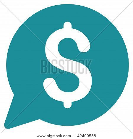 Bid icon. Vector style is flat iconic symbol with rounded angles, soft blue color, white background.
