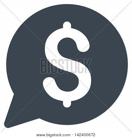 Bid icon. Vector style is flat iconic symbol with rounded angles, smooth blue color, white background.