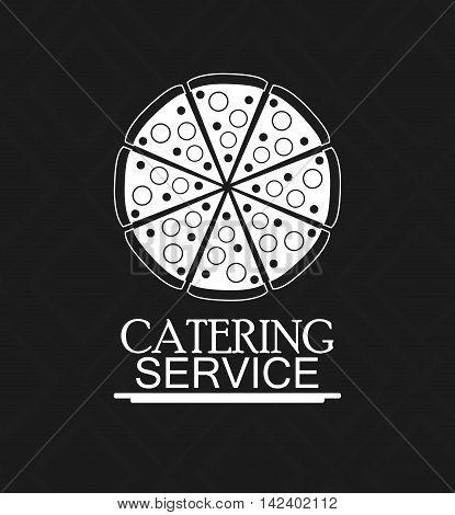 pizza catering service menu food icon. Silhouette illustration