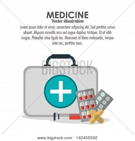 medical kit injection doctor medical health care icon. Colorfull and flat illustration