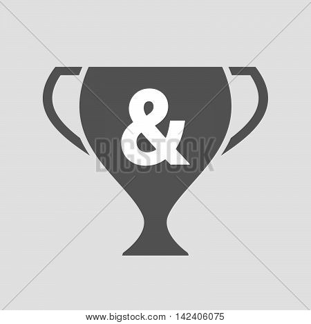 Isolated Award Cup Icon With An Ampersand