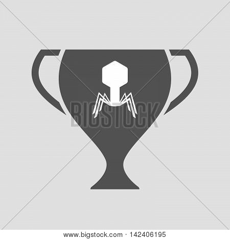 Isolated Award Cup Icon With A Virus
