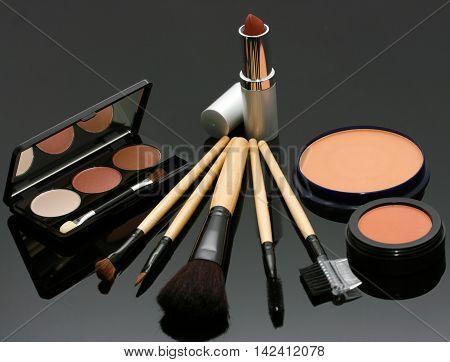 Lipstick Eye Shadow And Blusher