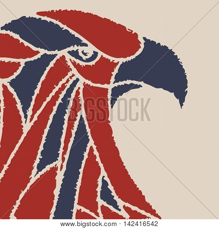 vector background with an eagle head. for posters, billboards, t-shirts.