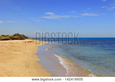 The Regional Natural Park Dune Costiere. (Apulia)ITALY.In the distance you can see the town Torre Canne.The park covers the territories of Ostuni and Fasano along eight kilometers of coastline.