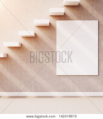 Staircase With Poster