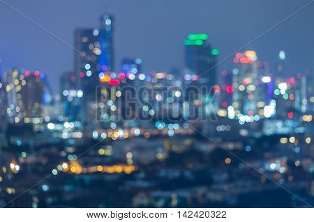 Abstract blurred lights nights office building background