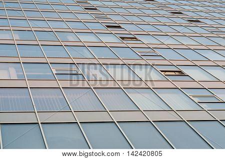Geometry pattern of a skyscraper mirror surface
