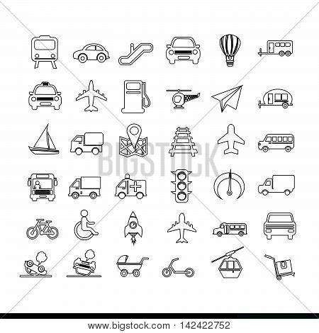 an images of Transport icon illustration design