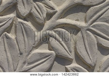 Stone wall imitation of cement - close-up