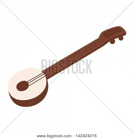 Banjo guitar vector illustration.