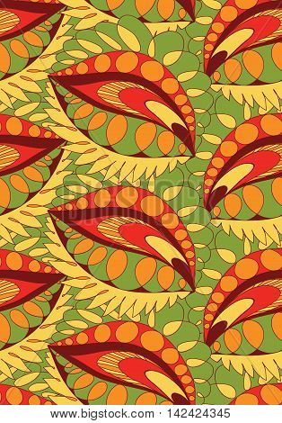 Seamless vertical background. Vector seamless pattern, doodling design. Cute background. Color doodle background.