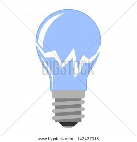 Cartoon lamp electric and bright cartoon interior light tool flat vector. Flat lamp light bulb electricity design flat vector illustration. Vector light bulb lamp isolated, creative idea concept