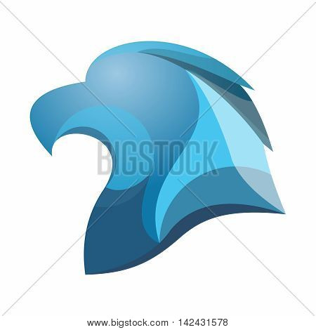 Vector Low Polygonal Crystal Eagle head, isolated on white background
