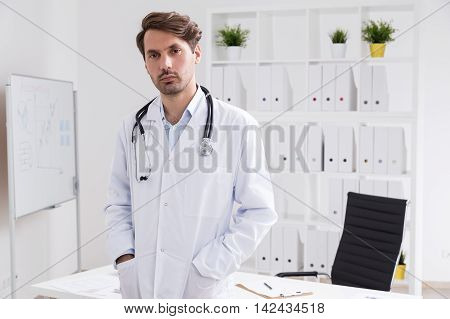 Medical Doctor In His Office