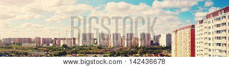 New Multi Storey Buildings Construction Landscape