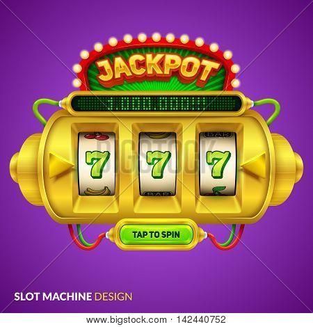 Futuristic slot machine illustration. Eps10 vector illustration.