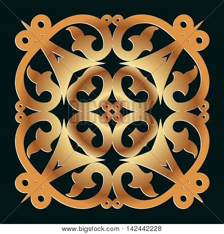 vector design elements Abstract golden decor on a dark background