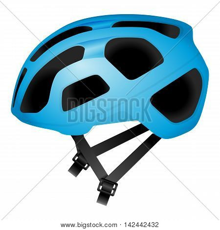 Cycling helmet on a white background. Vector illustration.