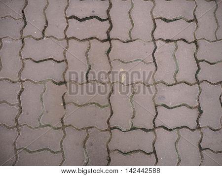 Brick floor texture with worm shape brick