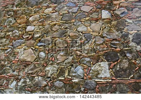 Old stones of wall as a background