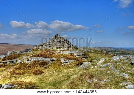 Chinkwell Tor, Dartmoor, near Widecombe- in-the- Moor,  Devon.